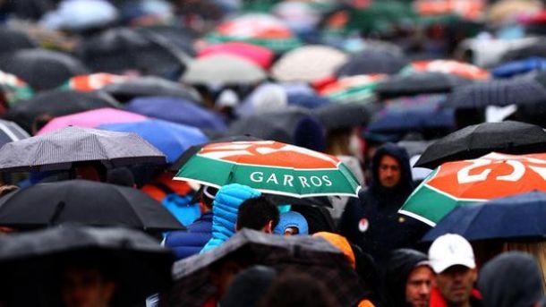 Matches Cancelled as Rain Causes Chaos at Roland Garros
