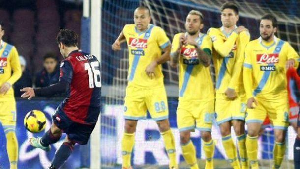 Napoli sofre gol no final e apenas empata com Genoa em casa