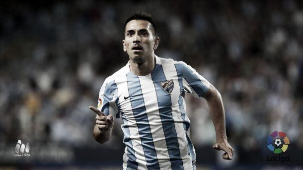 Charles, autor del doblete más rápido de la historia del Málaga CF