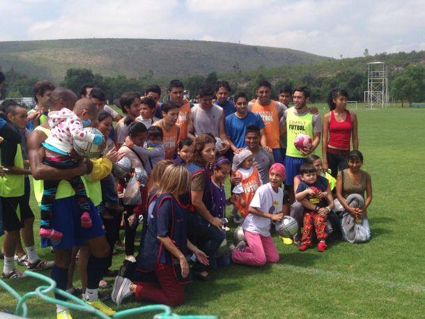 El Atlético San Luis recibió una visita muy especial