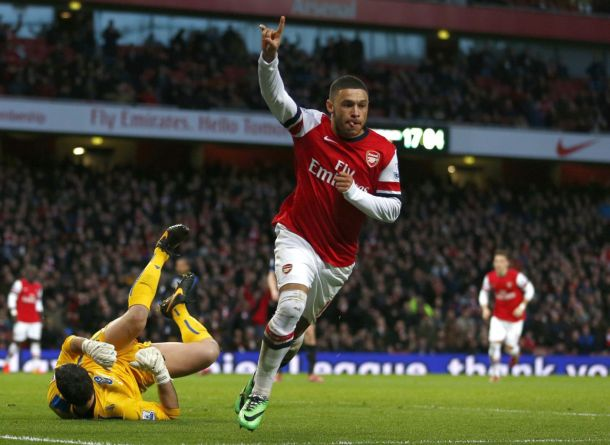 Chamberlain marca dois e decreta vitória do Arsenal sobre o Crystal Palace