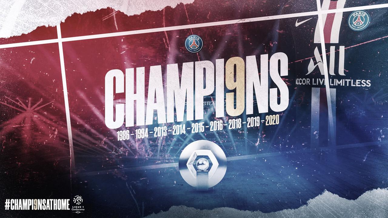 Paris Saint-Germain dedica título da Ligue 1 a profissionais na linha de frente contra coronavírus