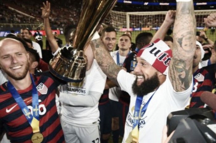 Tim Howard and Jordan Morris Savor Gold Cup Title
