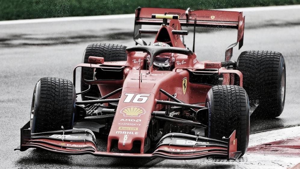 Rei da Itália! Leclerc supera clima e lidera treinos livres de sexta