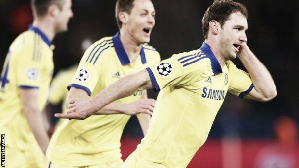 Paris Saint-Germain 1-1 Chelsea: Ivanovic scores crucial away goal in Paris