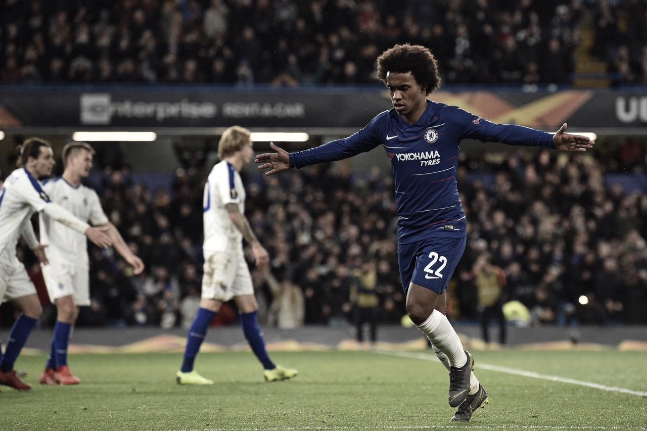 Em jogo de golaços, Chelsea goleia Dinamo Kiev e encaminha classificação na Europa League