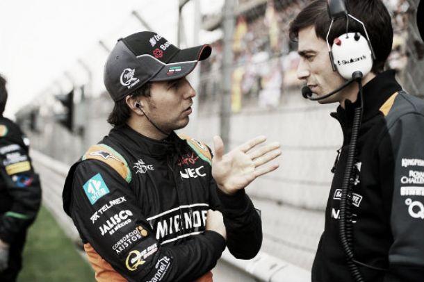 """""""Checo"""" Pérez se queda a un paso de los puntos en el GP de China"""
