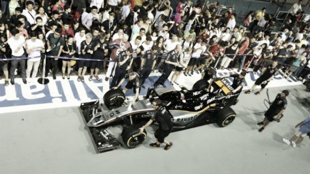 Sergio Pérez partirá desde el treceavo puesto en el GP de Singapur