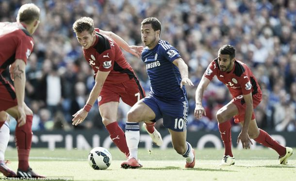 Score Match Leicester City vs Chelsea Result and English Premier League Scores 2015 (1-3)
