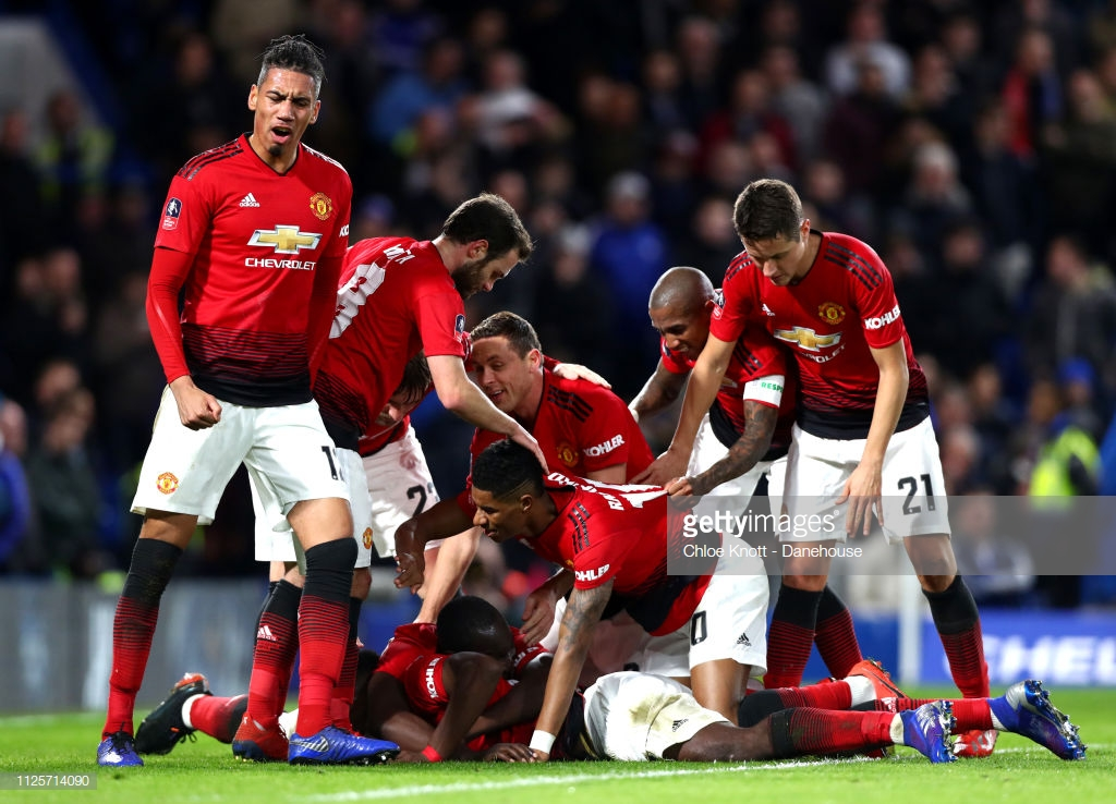 Chelsea 0-2 Manchester United:Pogba stars in an emphatic win against a ponderous Chelsea to breeze into FA Cup quarter-finals