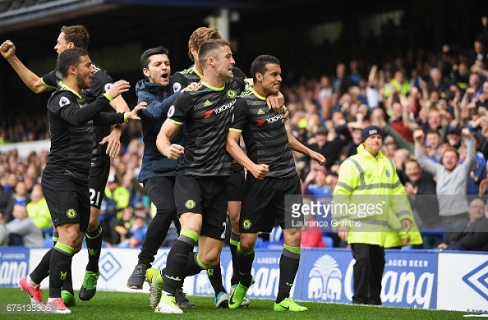 Everton 0-3 Chelsea: Toffees' home record soured as Conte's men inch closer to title