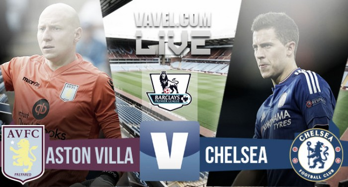 Score Aston Villa 0-4 Chelsea in Premier League 2016