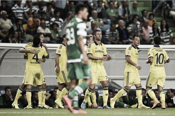 Com gol de Matic, Chelsea vence Sporting pelo placar mínimo em Portugal