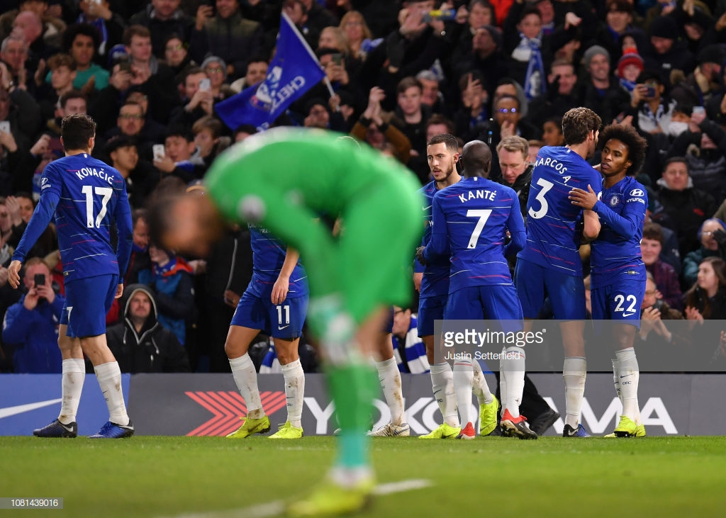 Chelsea 2-1 Newcastle United As it happened: Individual talentsprove the difference as Magpies move into the bottom three