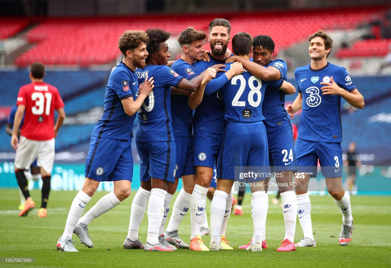 Chelsea 3-1 Manchester United: Blues book their place in FA Cup final