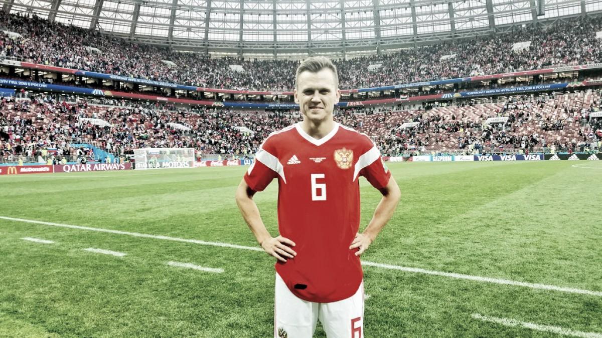 """Cheryshev comemora gols na estreia da Copa: """"Nem em meus melhores sonhos imaginava isso"""""""