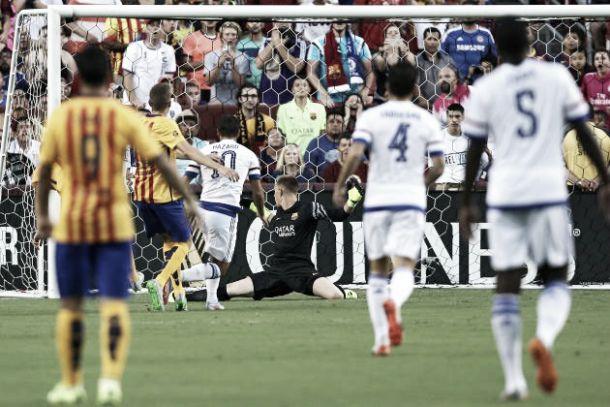 Chelsea (4) 2-2 (2): Mourinho's men beat Barça on penalties in International Champions Cup