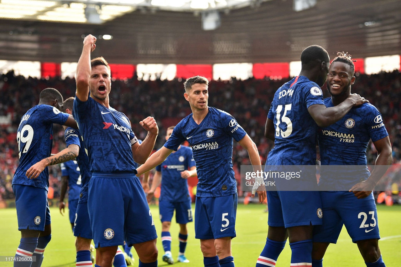 Southampton 1-4 Chelsea: Frank Lampard's Blues make it four wins in a row