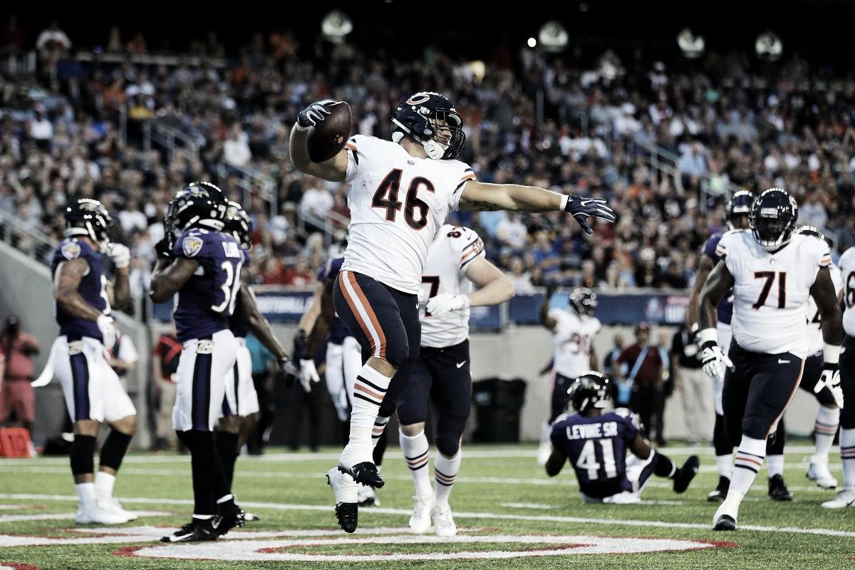 Ravens vencen a Bears en primer duelo de pretemporada de la NFL