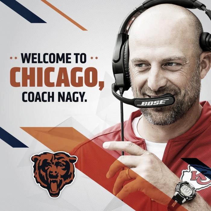 Matt Nagy es el nuevo head coach de los Bears