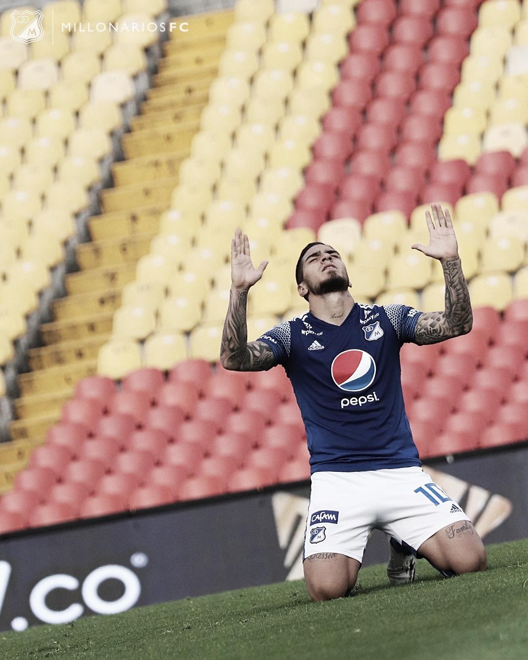 Cristian Arango, figura de Millonarios en su victoria contra el Cali