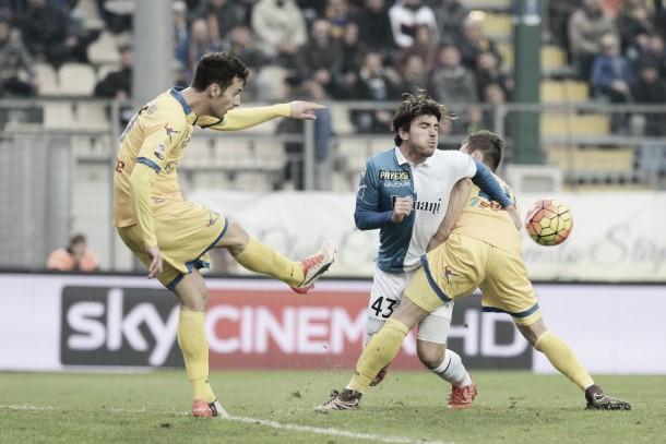 Il Chievo espugna il Matusa nel finale, Frosinone ingenuo