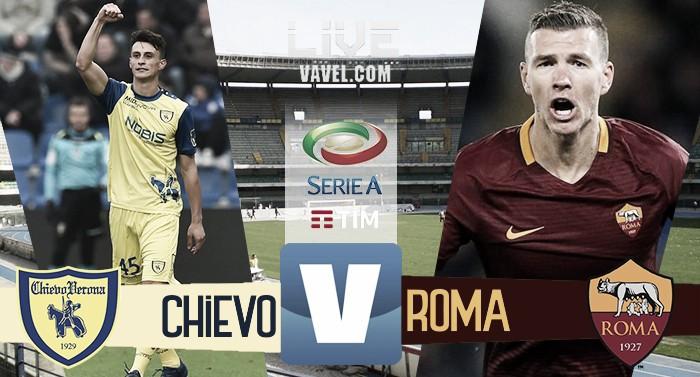 Chievo-Roma in Serie A 2016-17. Finisce qui! Roma batte Chievo 5-3