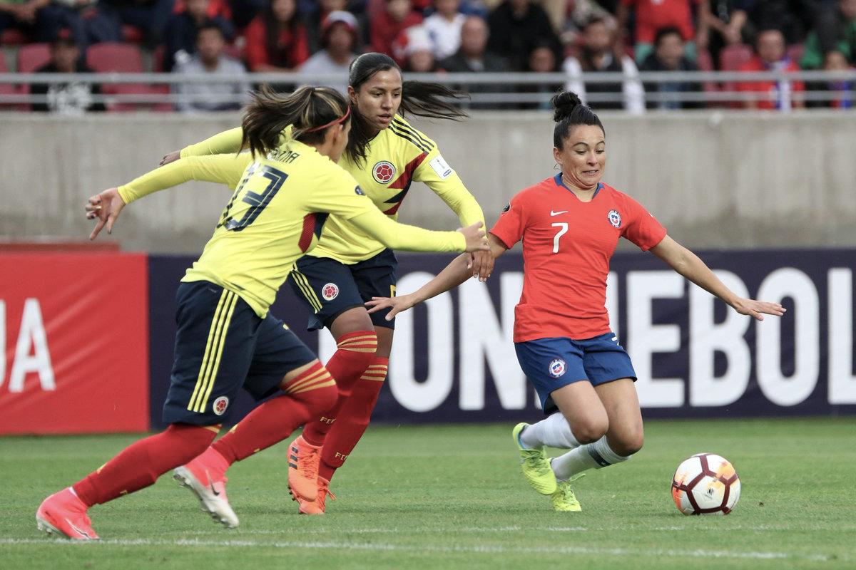 Colômbia empata com Chile e mantém a liderança na Copa América de Futebol Feminino