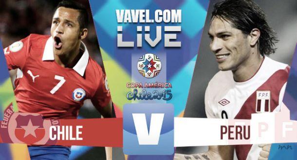 Resultado Perú vs Chile en vivo 2015 (1-2)