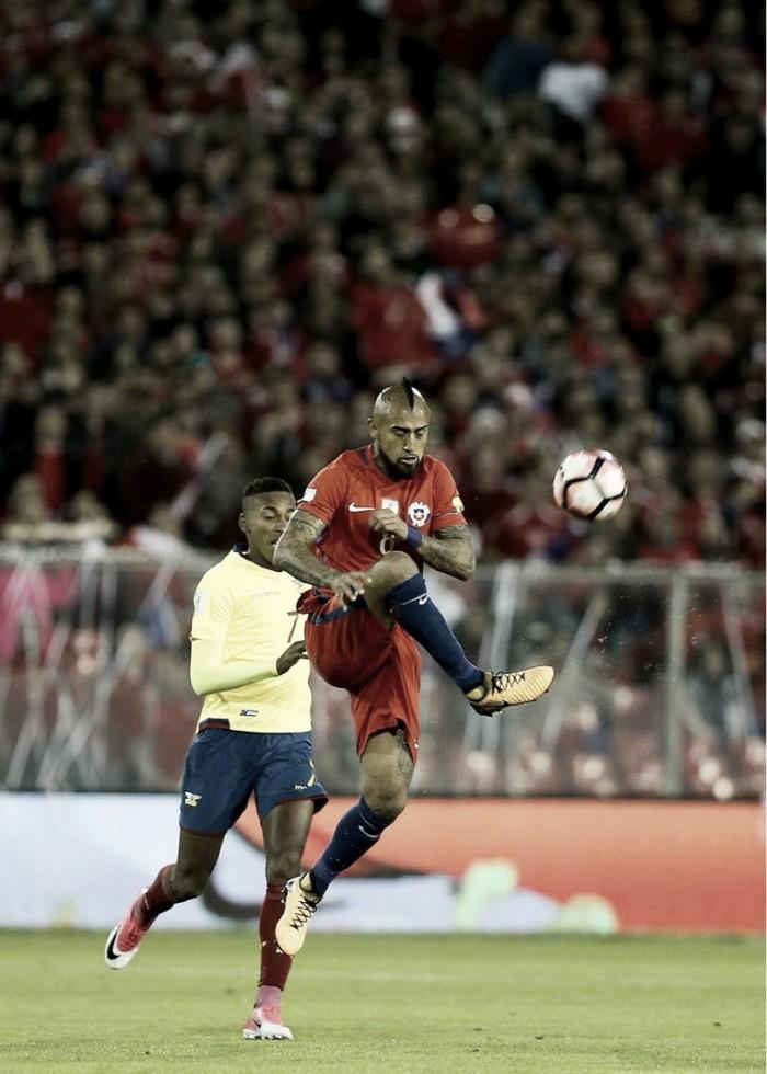 Chile vence Equador e alcança terceira posição na classificação