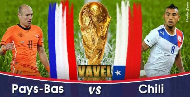 Live Pays-Bas - Chili, la Coupe du Monde 2014 en direct