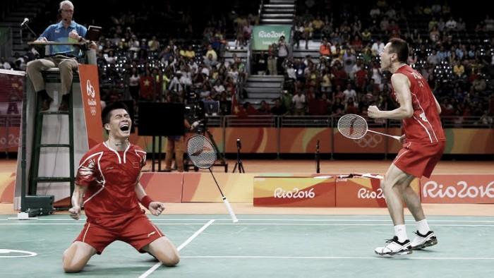 Dupla masculina da China bate dupla de Malásia e conquistam o ouro no Badminton