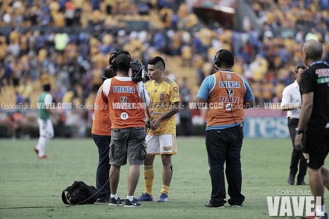 Lucas Zelarayán, contento por estar de vuelta con Tigres