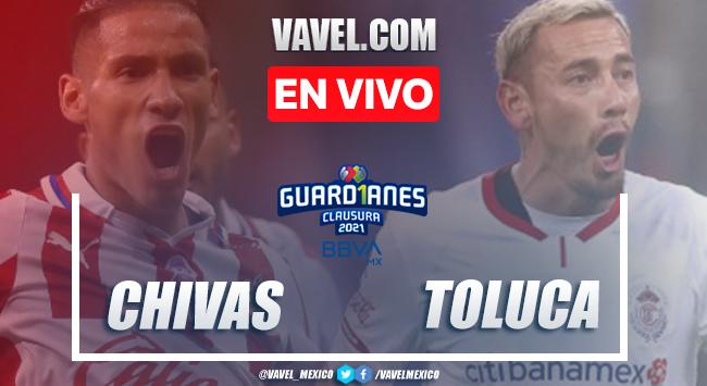Goles y resumen del Chivas 1-1 Toluca en Liga MX 2021