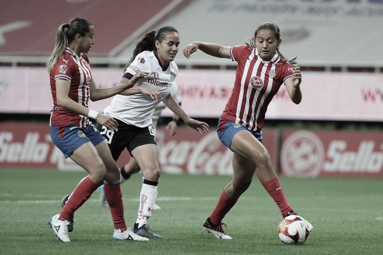 Chivas Femenil rescata el empate ante Toluca