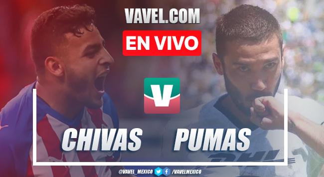 Resumen y video goles Chivas 1-1 Pumas en Apertura 2019