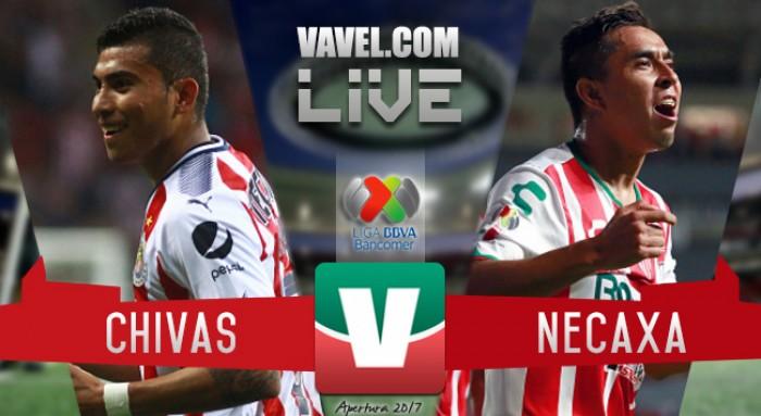 Resultado y goles del Chivas 2-2 Necaxa de la Liga MX 2017