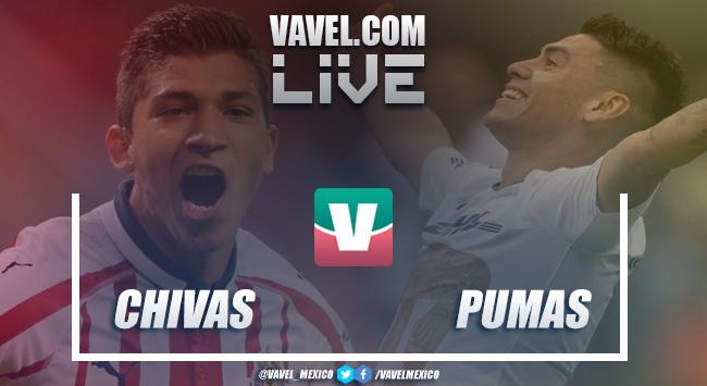 Resultado y goles del Chivas 1-2 Pumas en Liga MX 2018