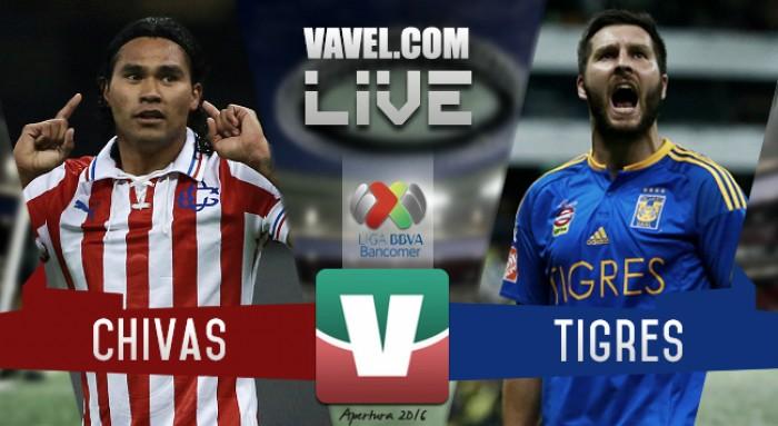 Tigres afianza el liderato frente a Chivas