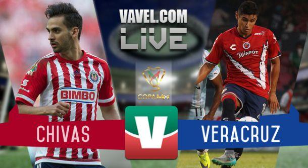 Resultado Chivas - Veracruz en en Copa MX 2015 (1-1) Penales (6-5)