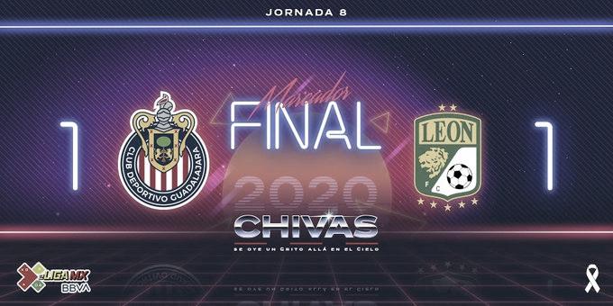 Chivas saca empate ante el líder de la e Liga MX