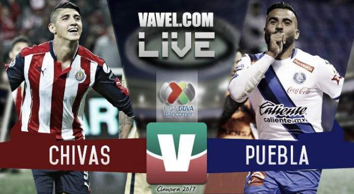 Resultado y goles del partido Chivasvs Puebla Liga MX 2017 (3-2)