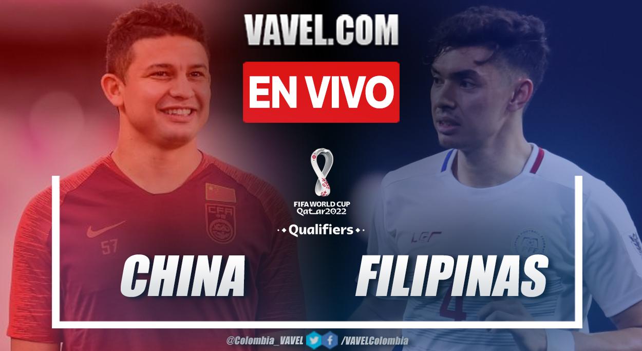 Resumen y Goles: China 2-0 Filipinas en eliminatorias al mundial 2022