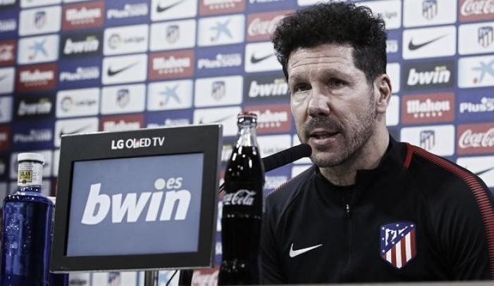 """Simeone: """"Los jugadores importantes quieren estar aquí"""""""
