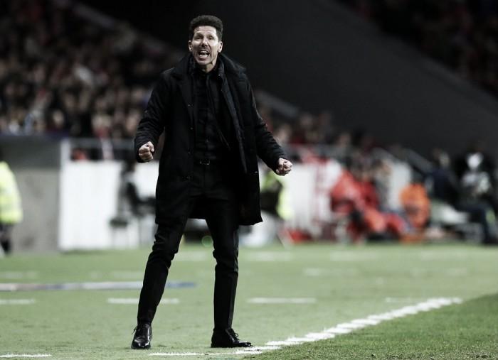 """Diego Simeone: """"Más allá de lo que pase en Roma, hay que mantener el juego"""""""