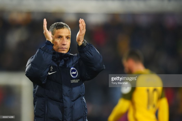 """Chris Hughton """"disappointed"""" by manner of both goals in Huddersfield defeat"""
