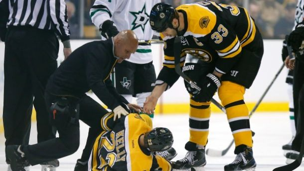 Boston Bruins Forward Chris Kelly Out 6-8 Months With Fractured Femur