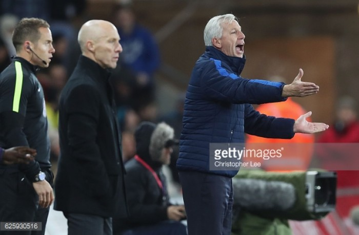 Alan Pardew reflects on stunning Swansea City defeat