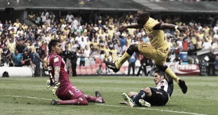 En duelo de líderes, Rayados ya vence 2-0 a las Águilas