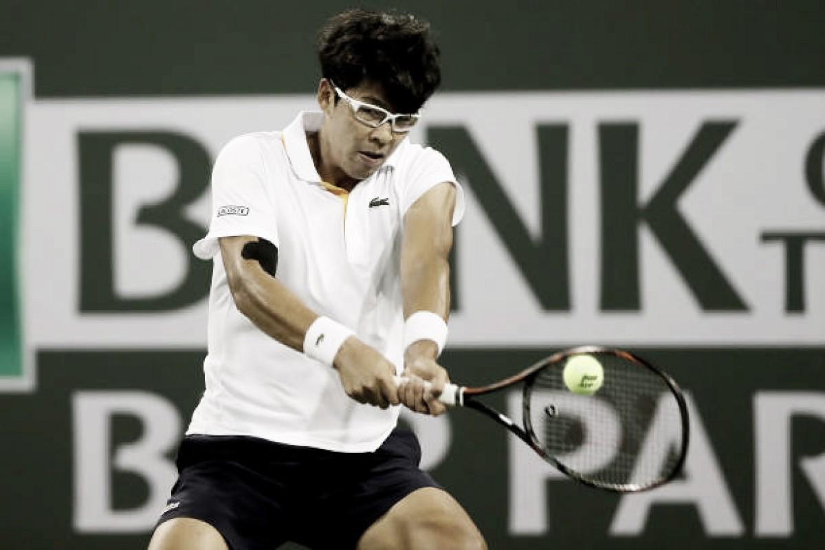 Chung atropela Cuevas e espera Federer nas quartas em Indian Wells
